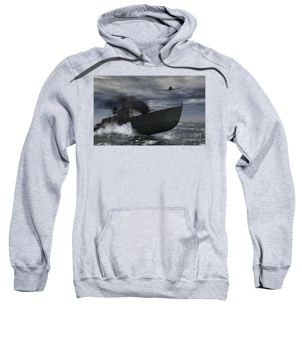 War Sweatshirt featuring the digital art Under Attack by Richard Rizzo