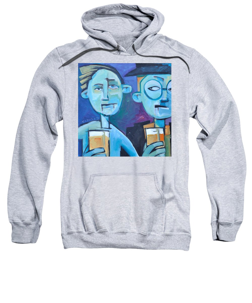 Men Sweatshirt featuring the painting Under Scrutiny by Tim Nyberg