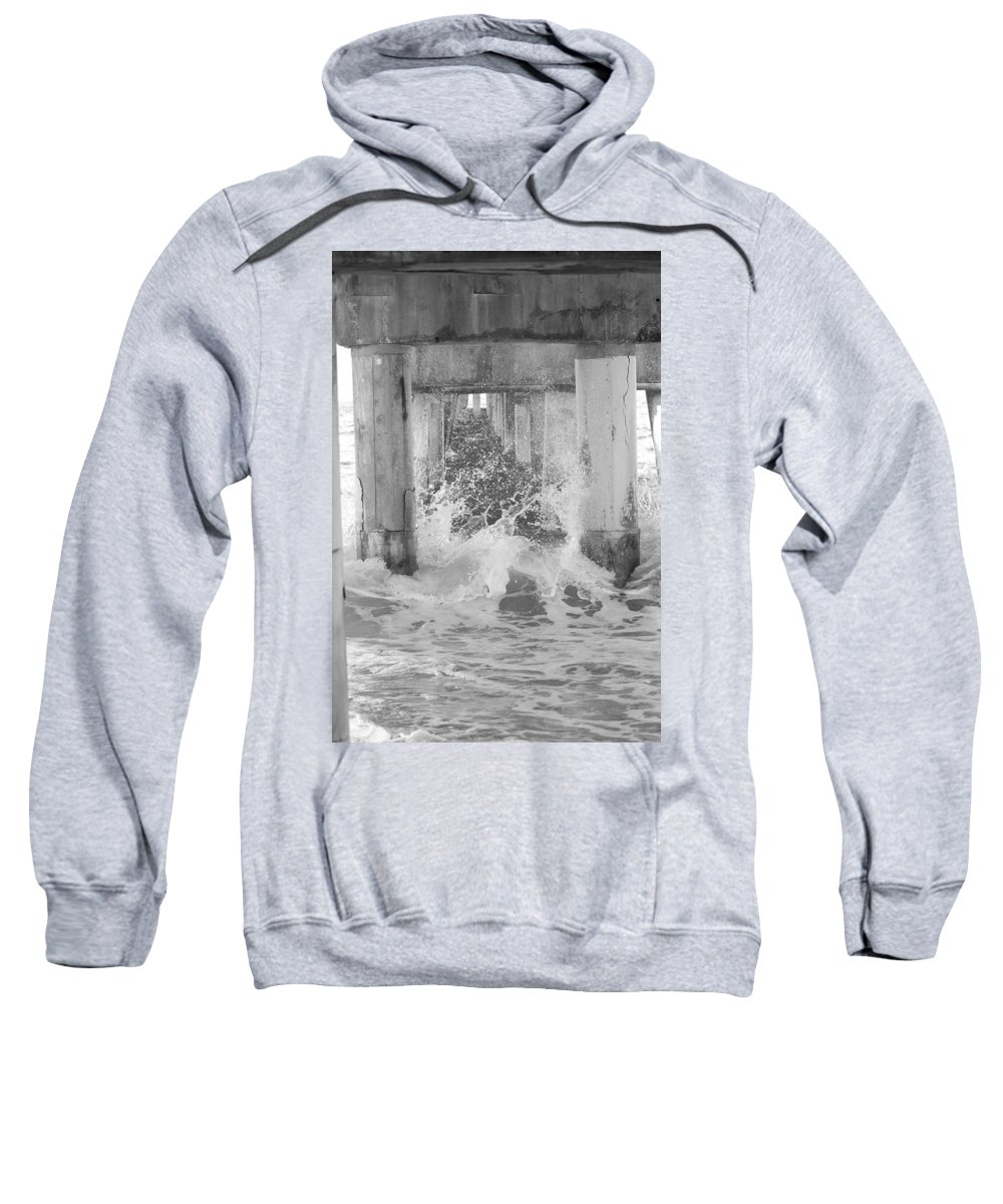 Black And White Sweatshirt featuring the photograph Under The Boardwalk by Rob Hans