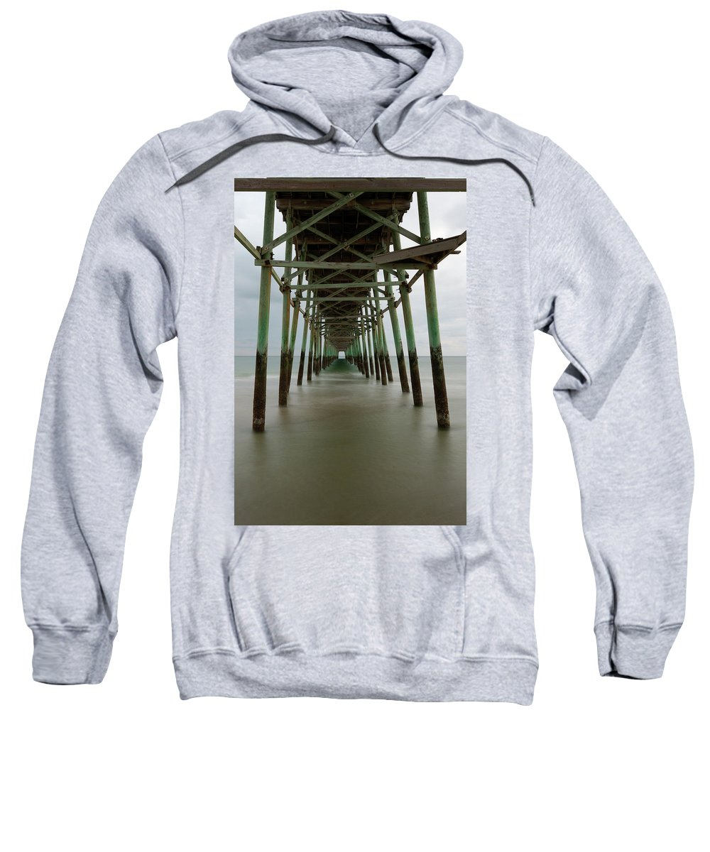 Pier Sweatshirt featuring the photograph Under The Pier by Kevin Work