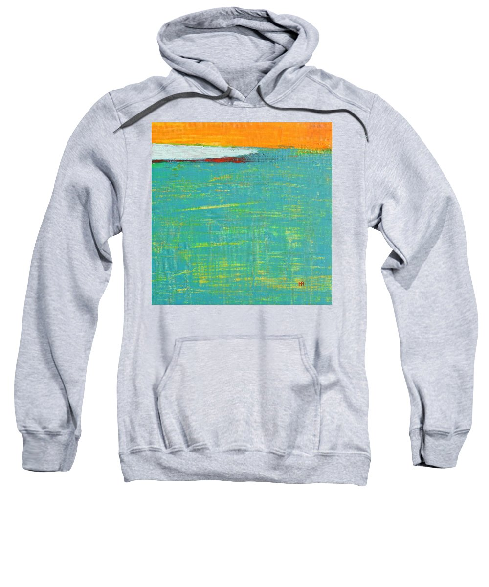 Abstract Sweatshirt featuring the painting Under The Pressure by Habib Ayat