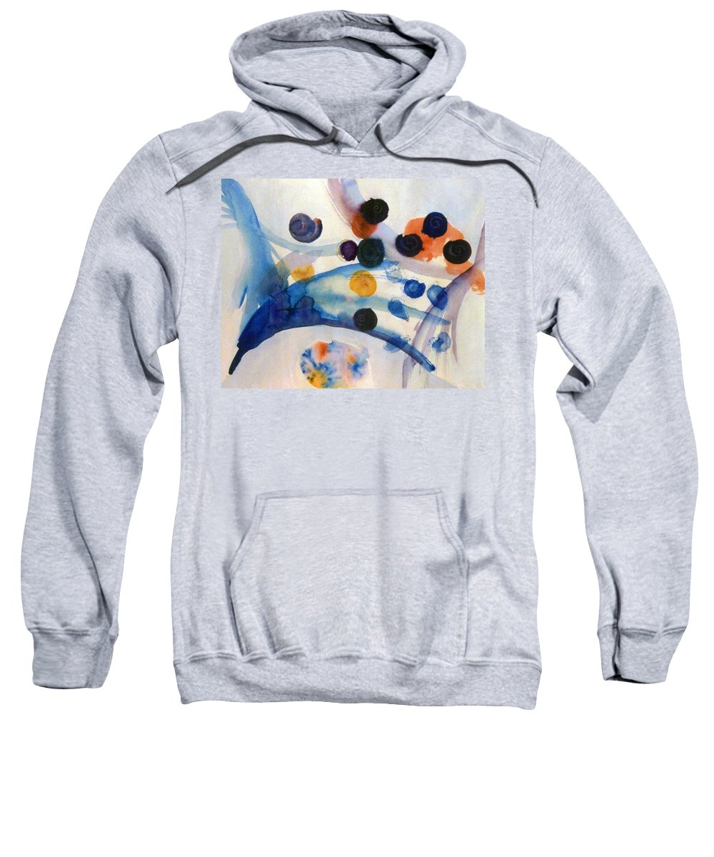 Abstract Sweatshirt featuring the painting Under The Sea by Steve Karol