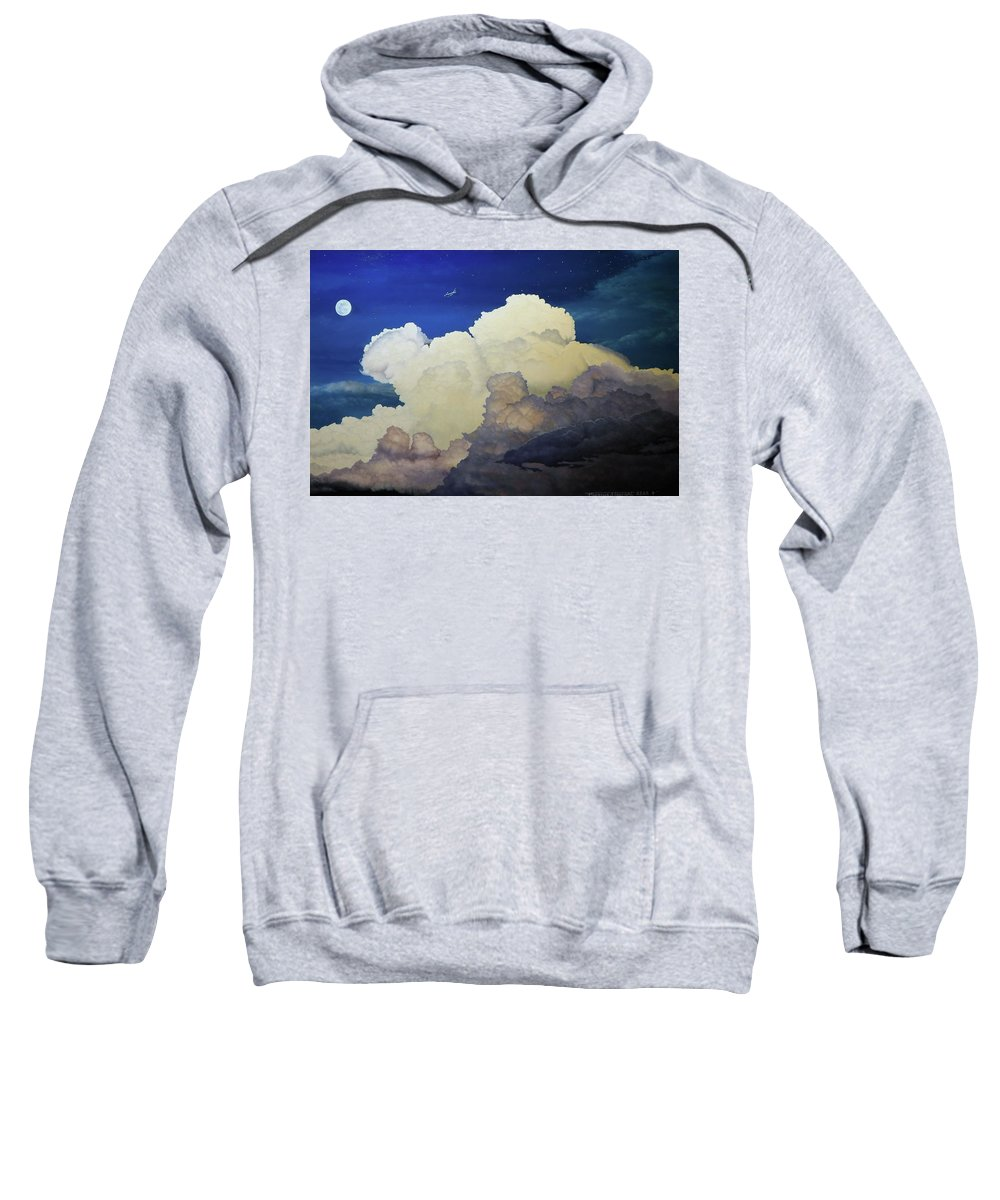 Aviation Sweatshirt featuring the painting Under The Southern Cross by Marc Stewart