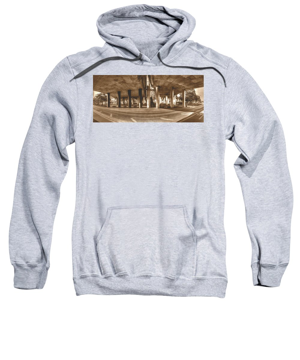 Architecture Sweatshirt featuring the photograph Under The Viaduct B Panoramic Urban View by Jacek Wojnarowski