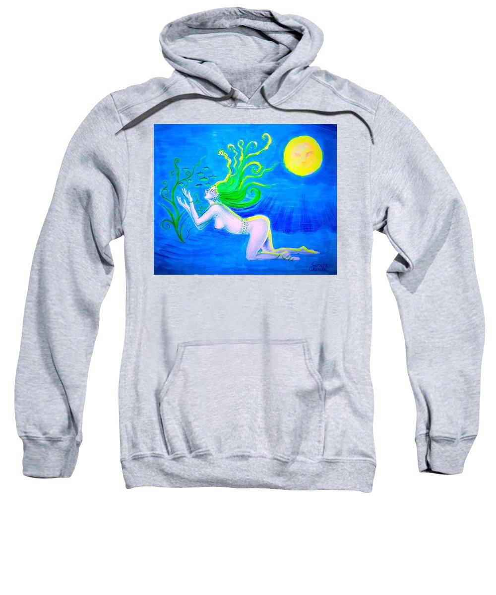 Underwater Fantasy Sweatshirt featuring the drawing Underwater Fantasy by Chirila Corina