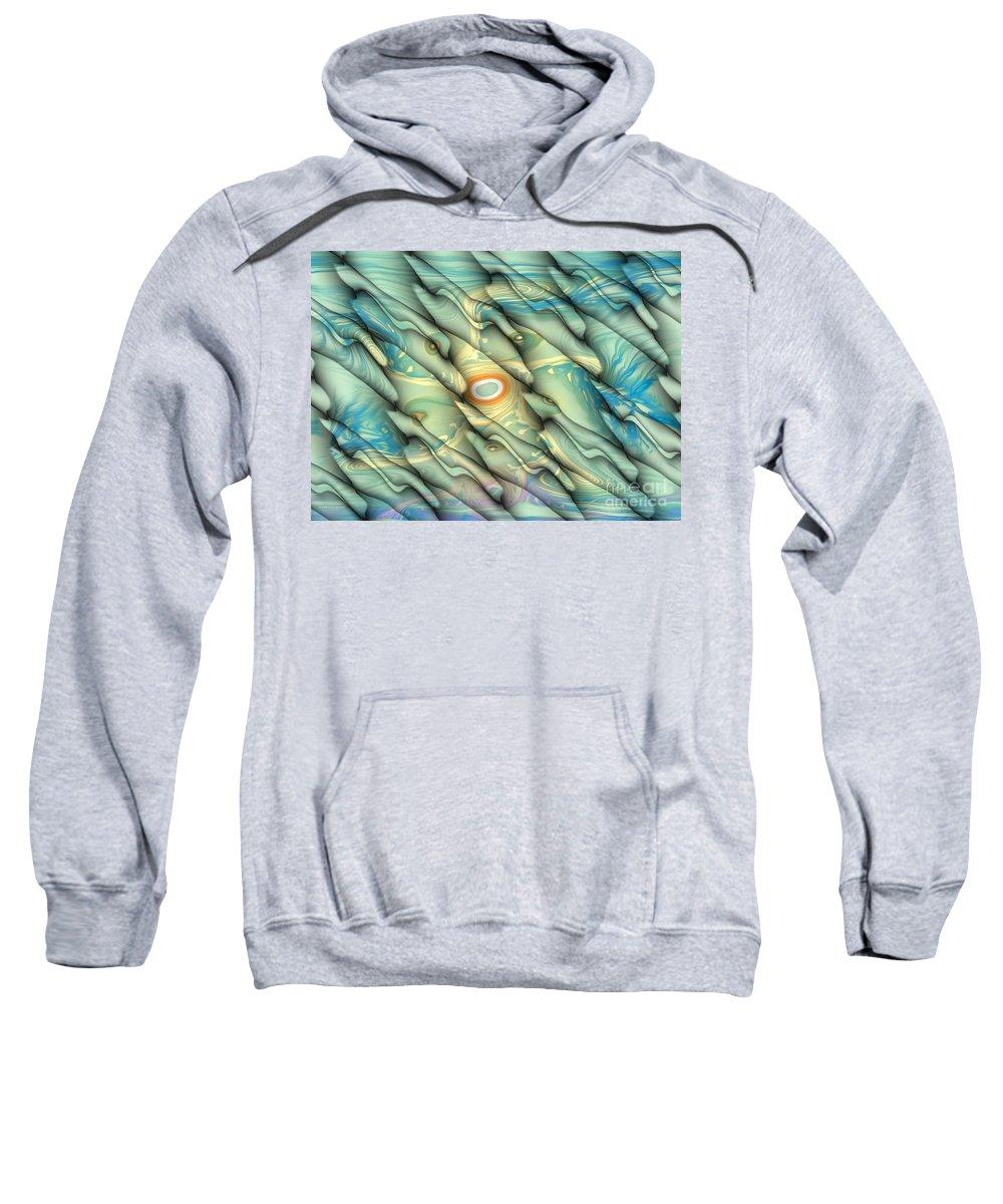 Digital Sweatshirt featuring the digital art Underwater Life by Deborah Benoit