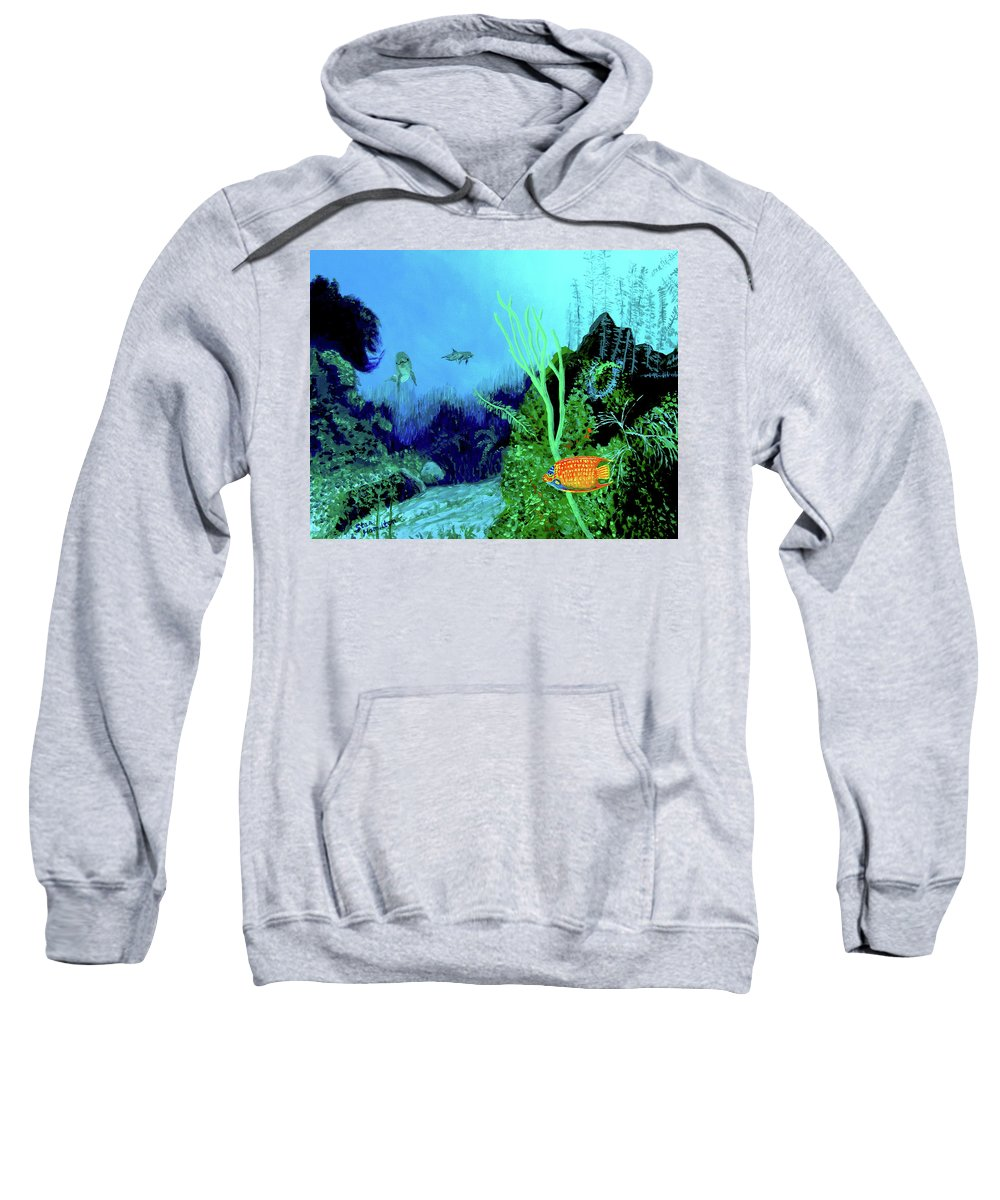 Wildlife Sweatshirt featuring the painting Underwater by Stan Hamilton