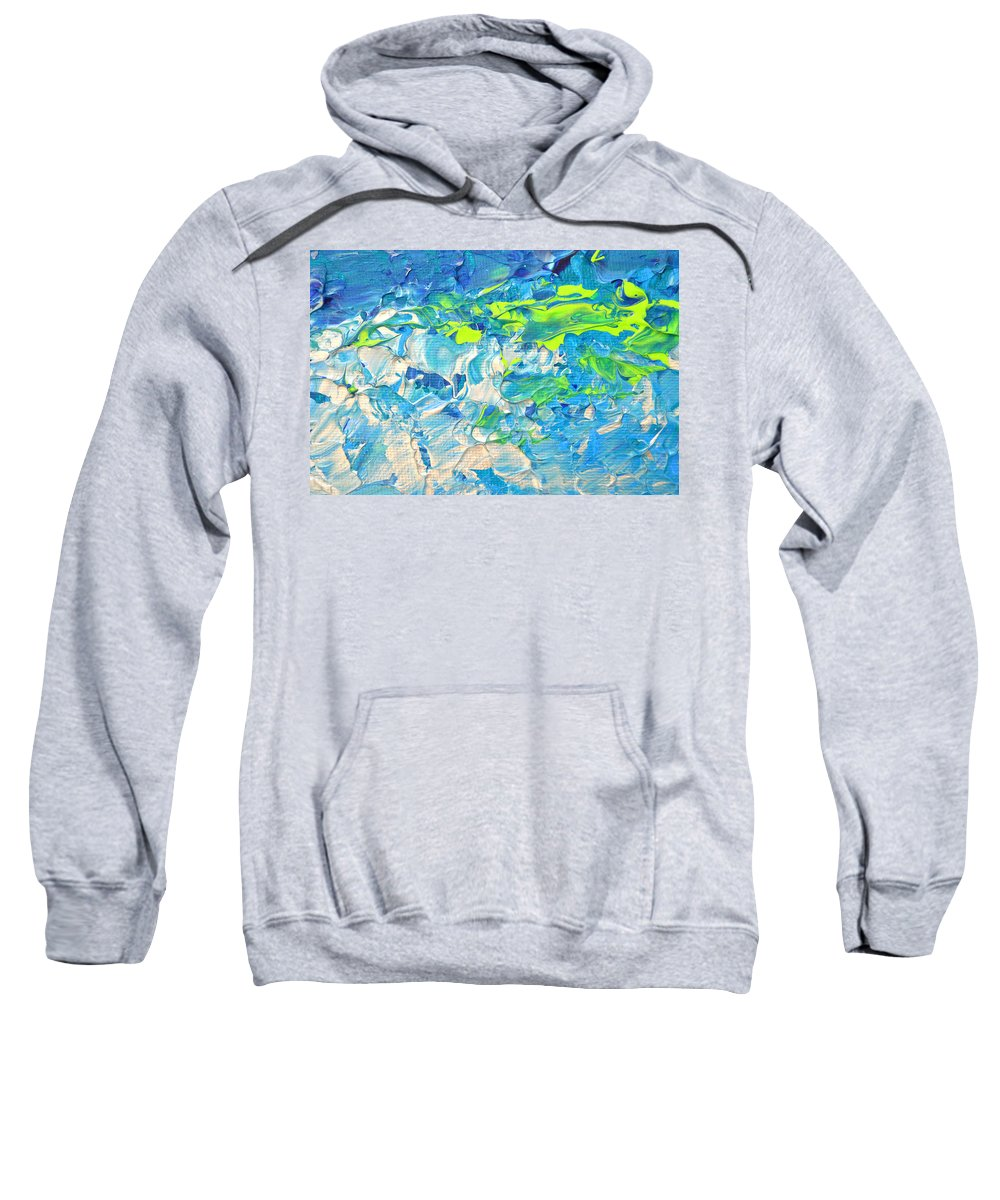 Art Sweatshirt featuring the painting Underwater Wave by Adriana Dziuba