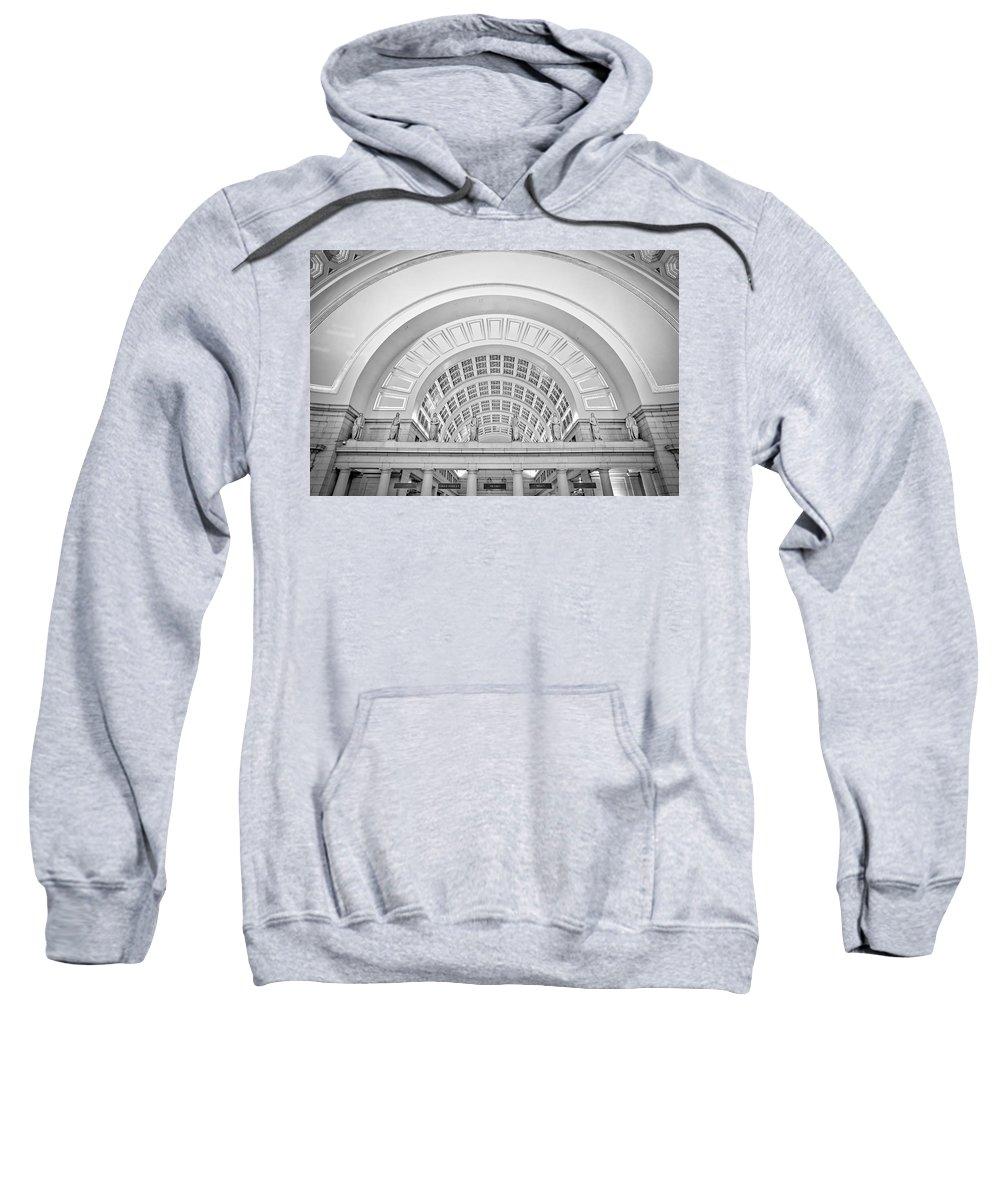 Union Station Sweatshirt featuring the photograph Union Station Washington Dc by Susan Candelario