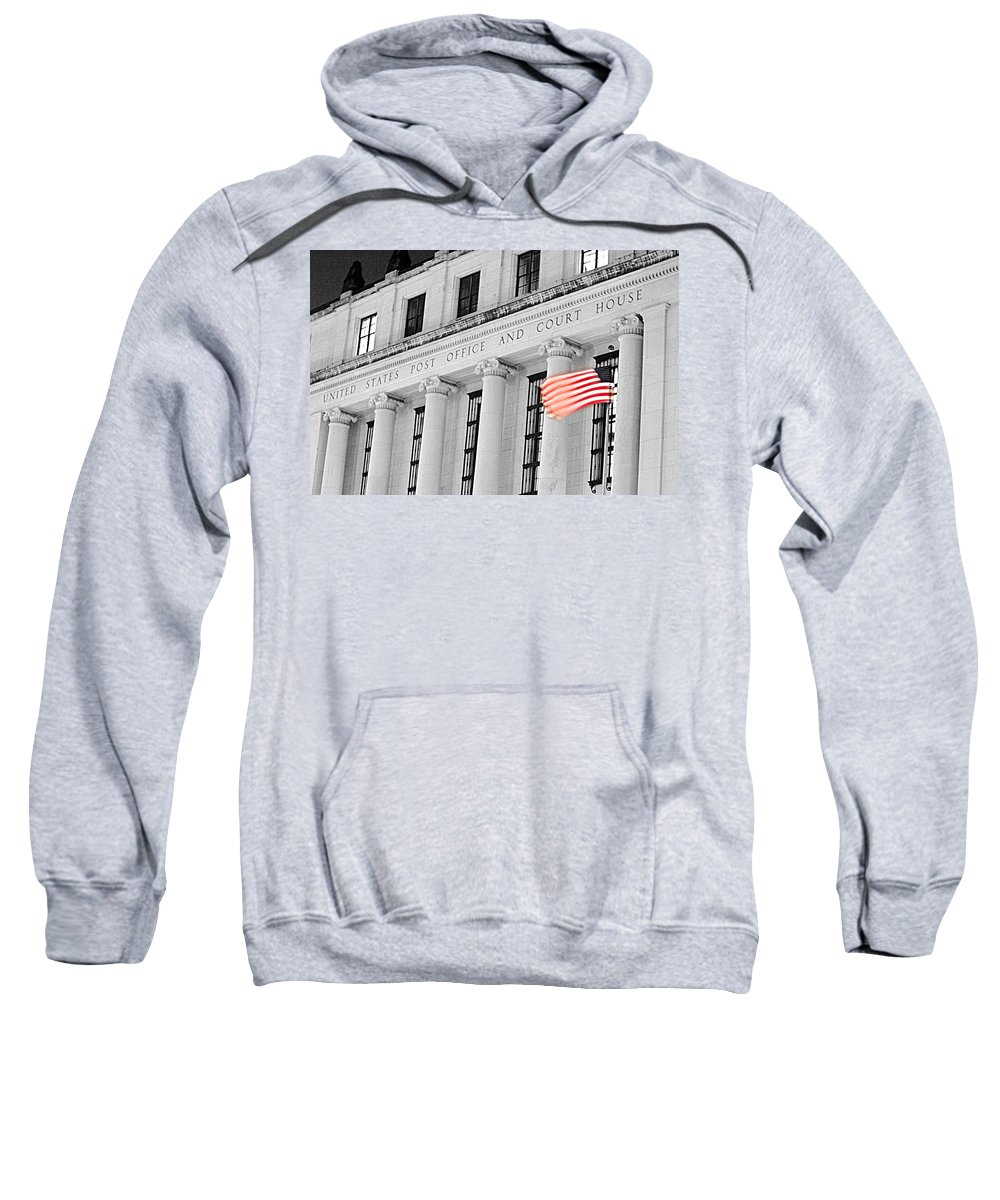 Architecture Sweatshirt featuring the photograph United States Flag by Jill Reger