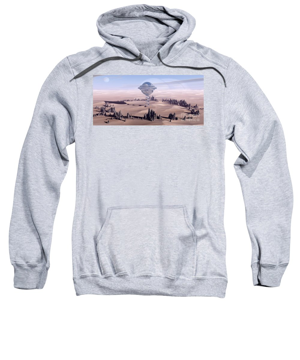 Surreal Sweatshirt featuring the digital art Universal Time by Richard Rizzo