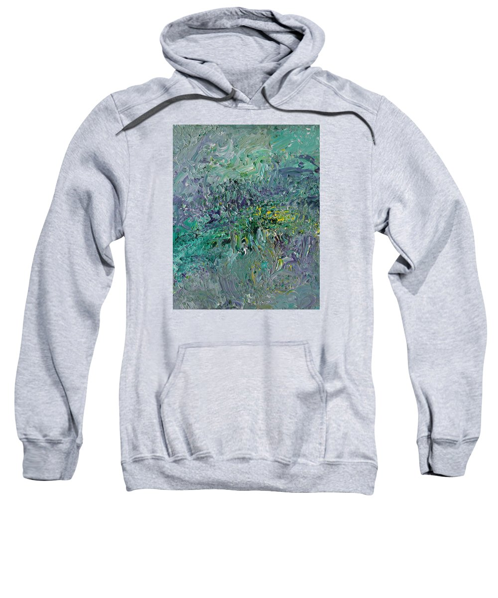 Fusionart Sweatshirt featuring the painting Blind Giverny by Ralph White