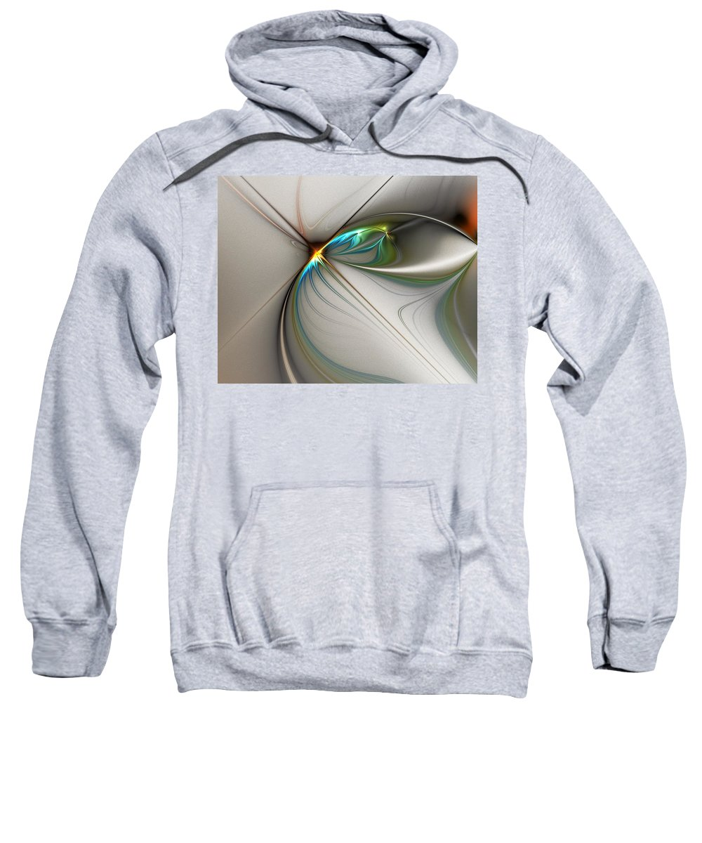 Digital Painting Sweatshirt featuring the digital art Untitled 02-16-10-a by David Lane