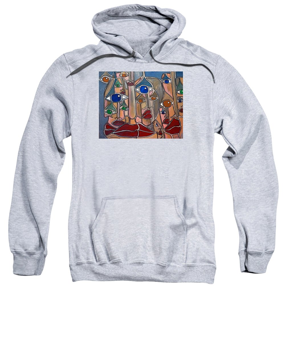 Lips Sweatshirt featuring the painting Untitled 83 by Rick Litteral