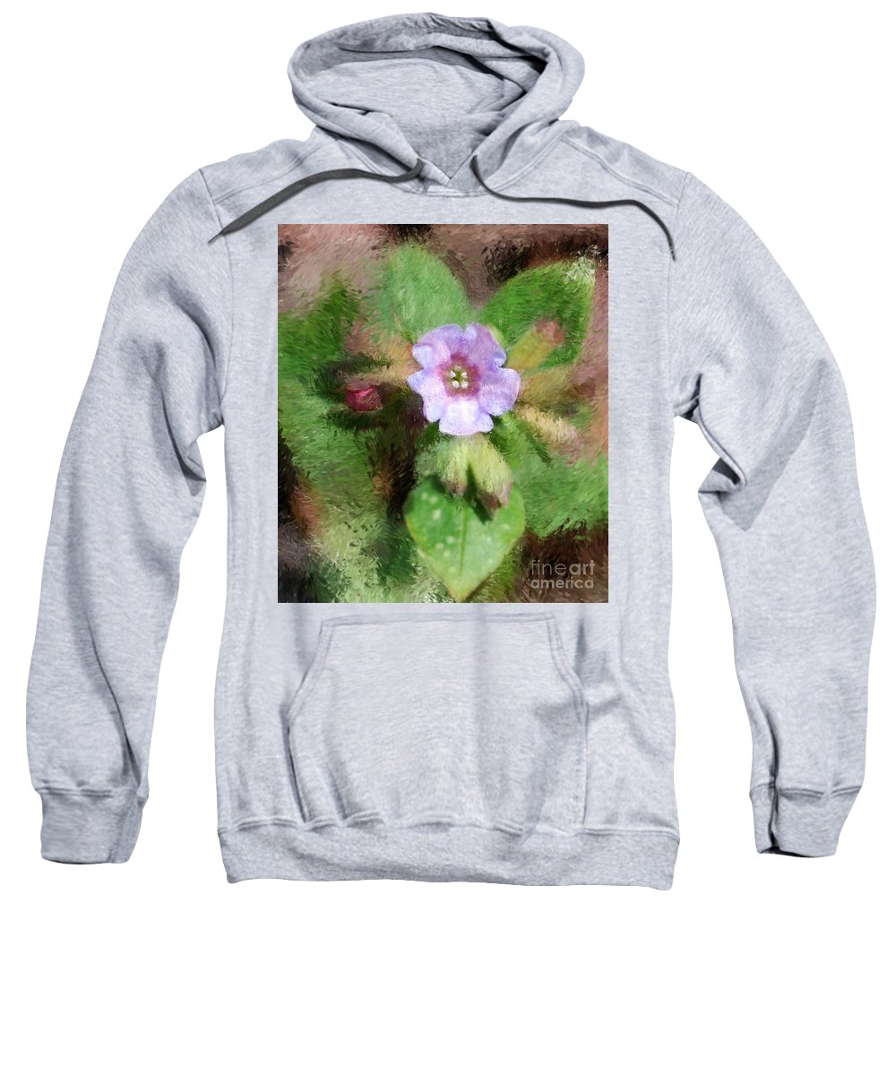 Digital Photo Sweatshirt featuring the photograph Untitled Floral -1 by David Lane