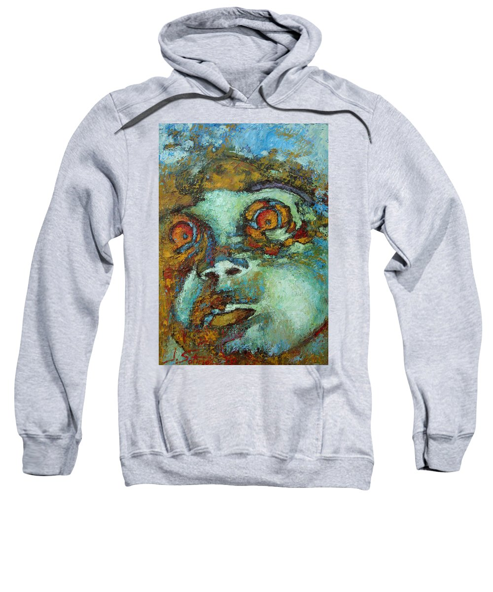 Oil Sweatshirt featuring the painting Untitled by Ioulia Sotiriou