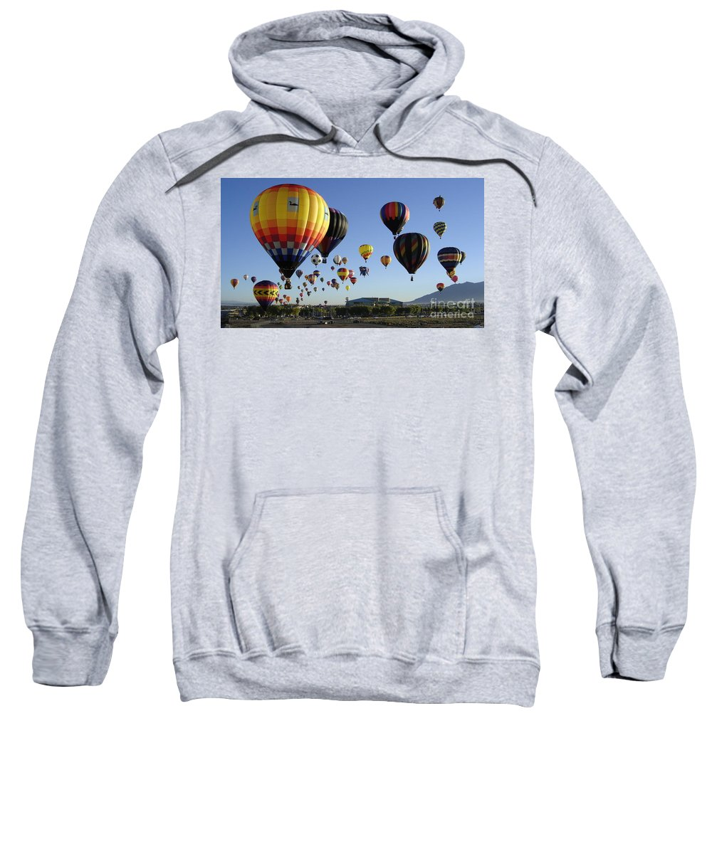 Balloons Sweatshirt featuring the photograph Up And Away by Mary Rogers