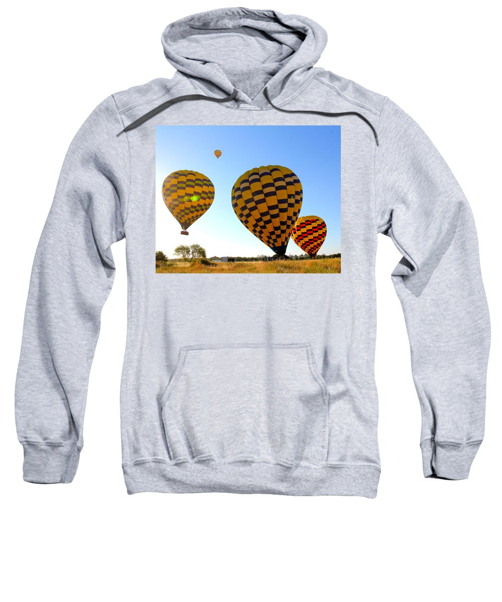 Hot Air Balloons Sweatshirt featuring the photograph Up Up And Away by Steve Natale