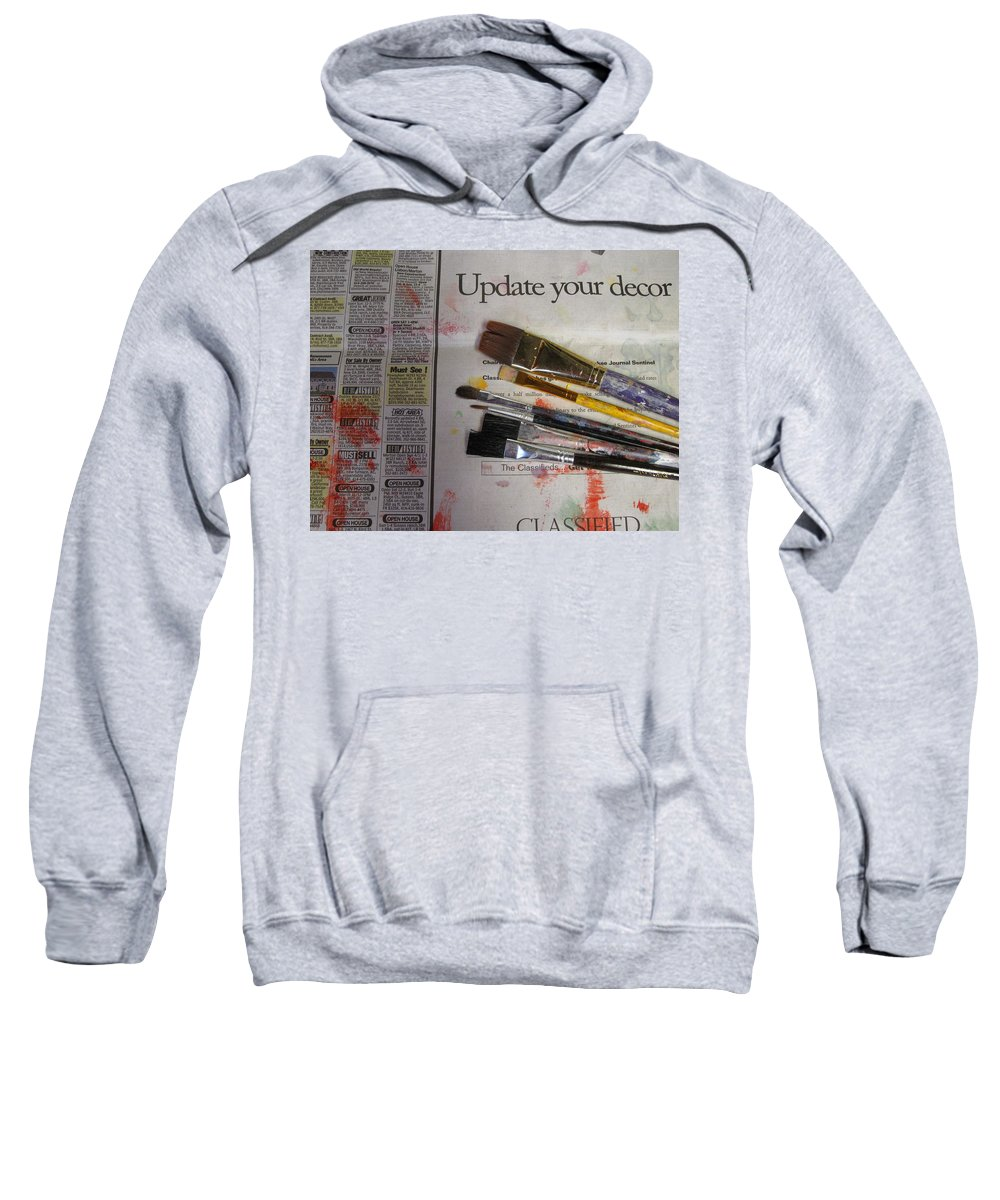 Brushes Sweatshirt featuring the photograph Update Your Decor by Anita Burgermeister