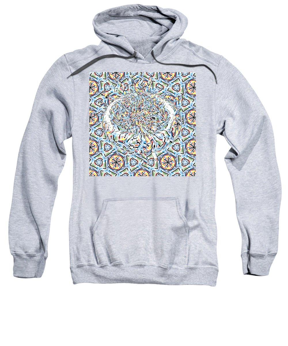 Digital Art. Abstract. Mad Vision. Riot. Explosion. Sweatshirt featuring the digital art Upheaval by Lawrence Allen