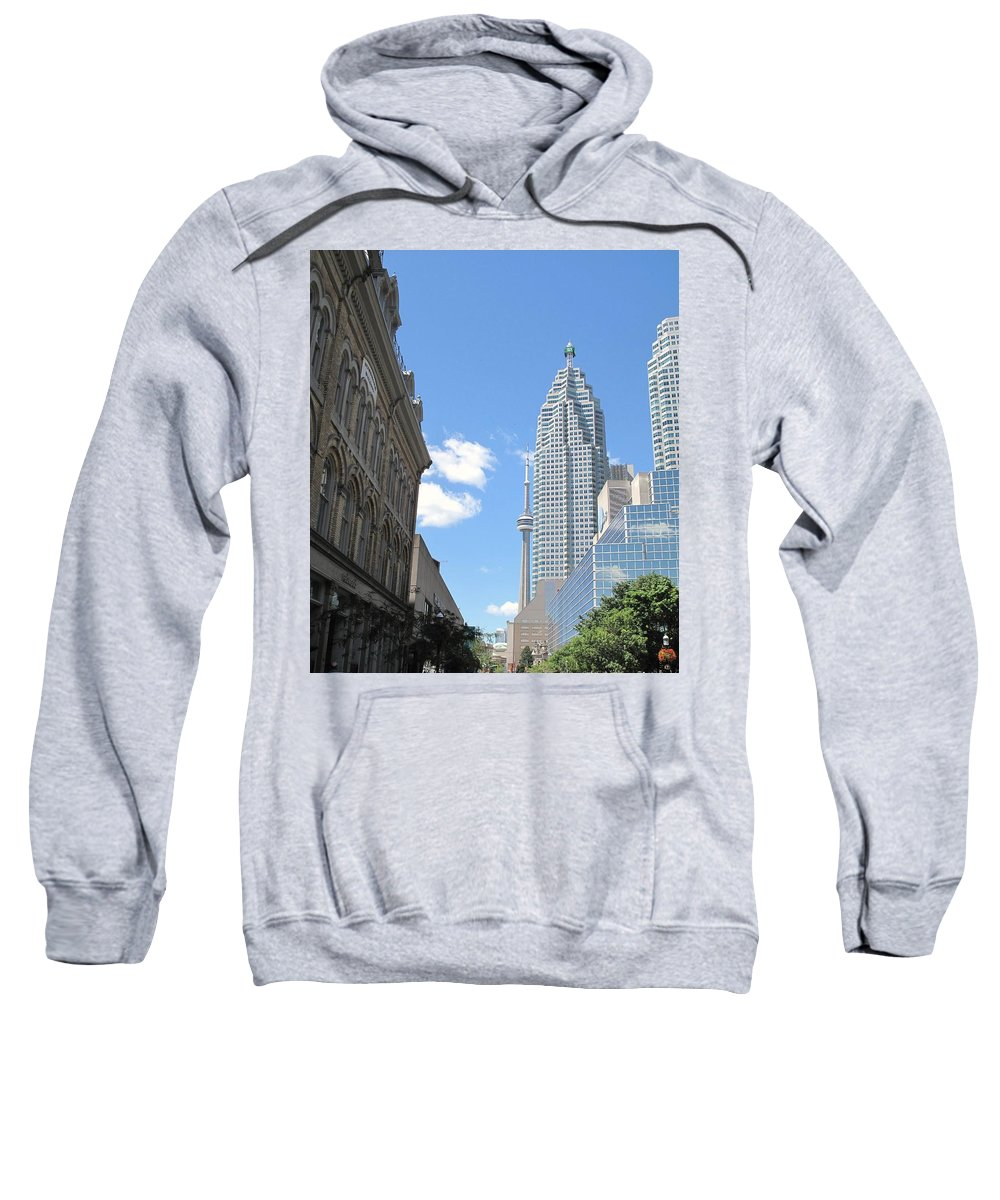 Front Street Sweatshirt featuring the photograph Urban Canyon by Ian MacDonald