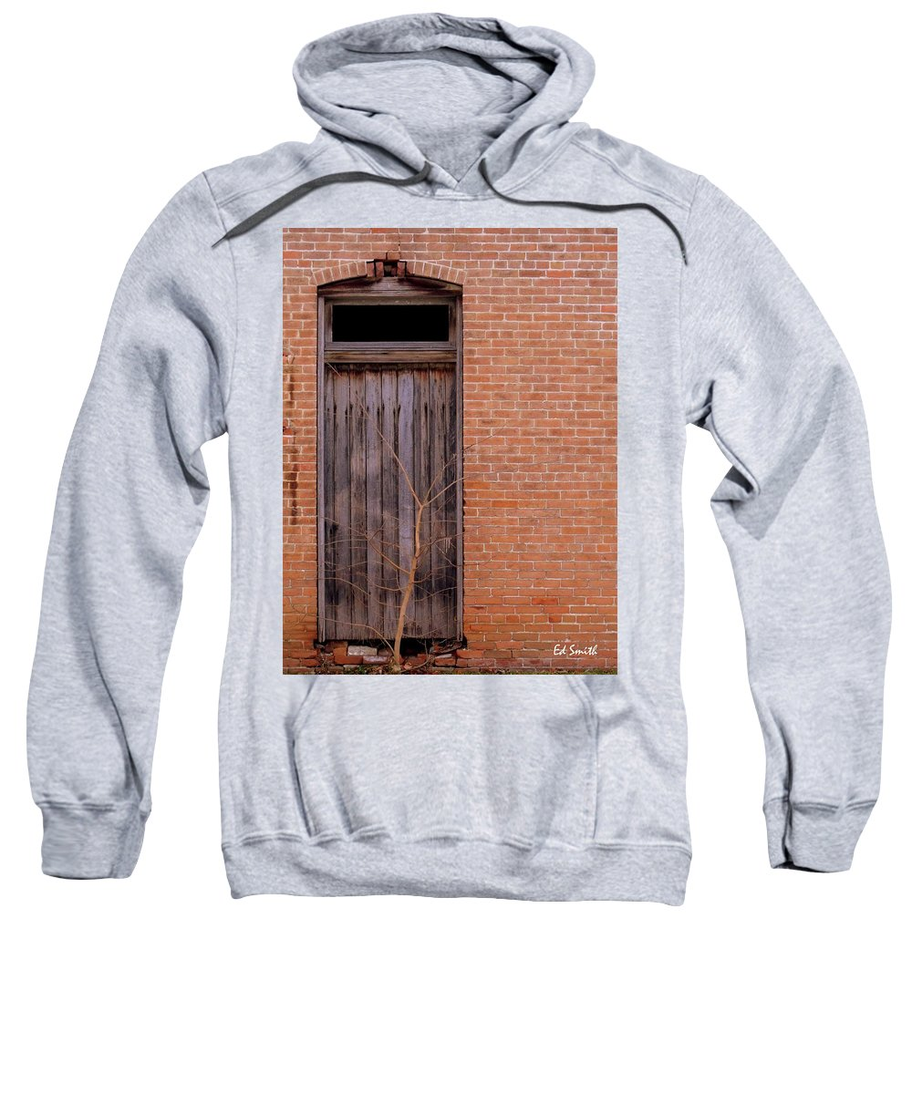 Use Side Entrance Sweatshirt featuring the photograph Use Side Entrance by Ed Smith