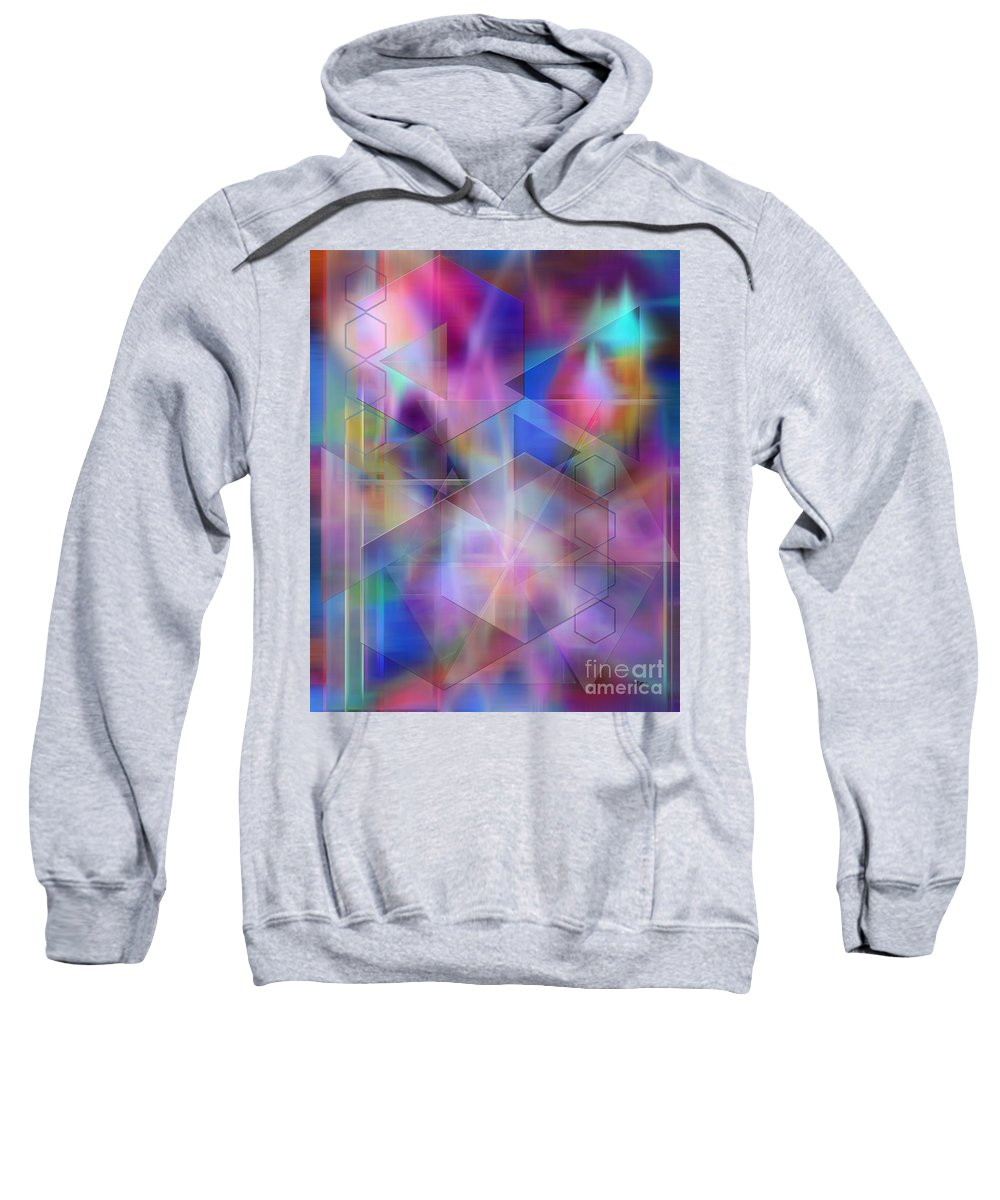 Usonian Dreams Sweatshirt featuring the digital art Usonian Dreams by John Beck