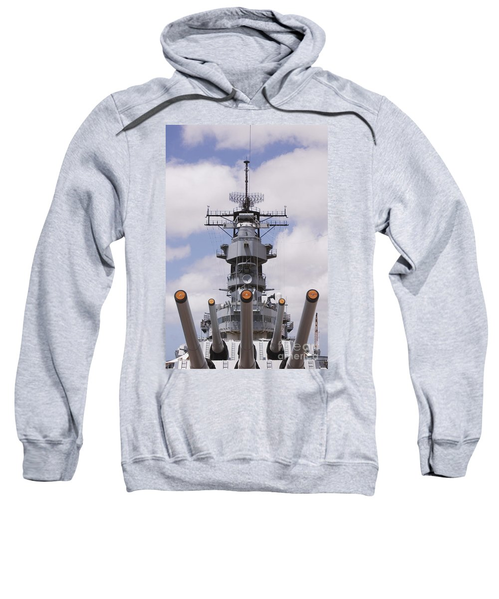 Afternoon Sweatshirt featuring the photograph Uss Missouri by Greg Vaughn - Printscapes