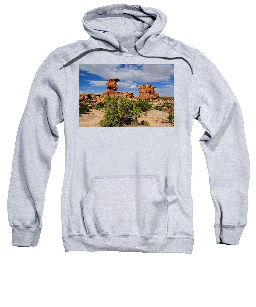 Utah Sweatshirt featuring the photograph Utah Canyonlands by Tikvah's Hope