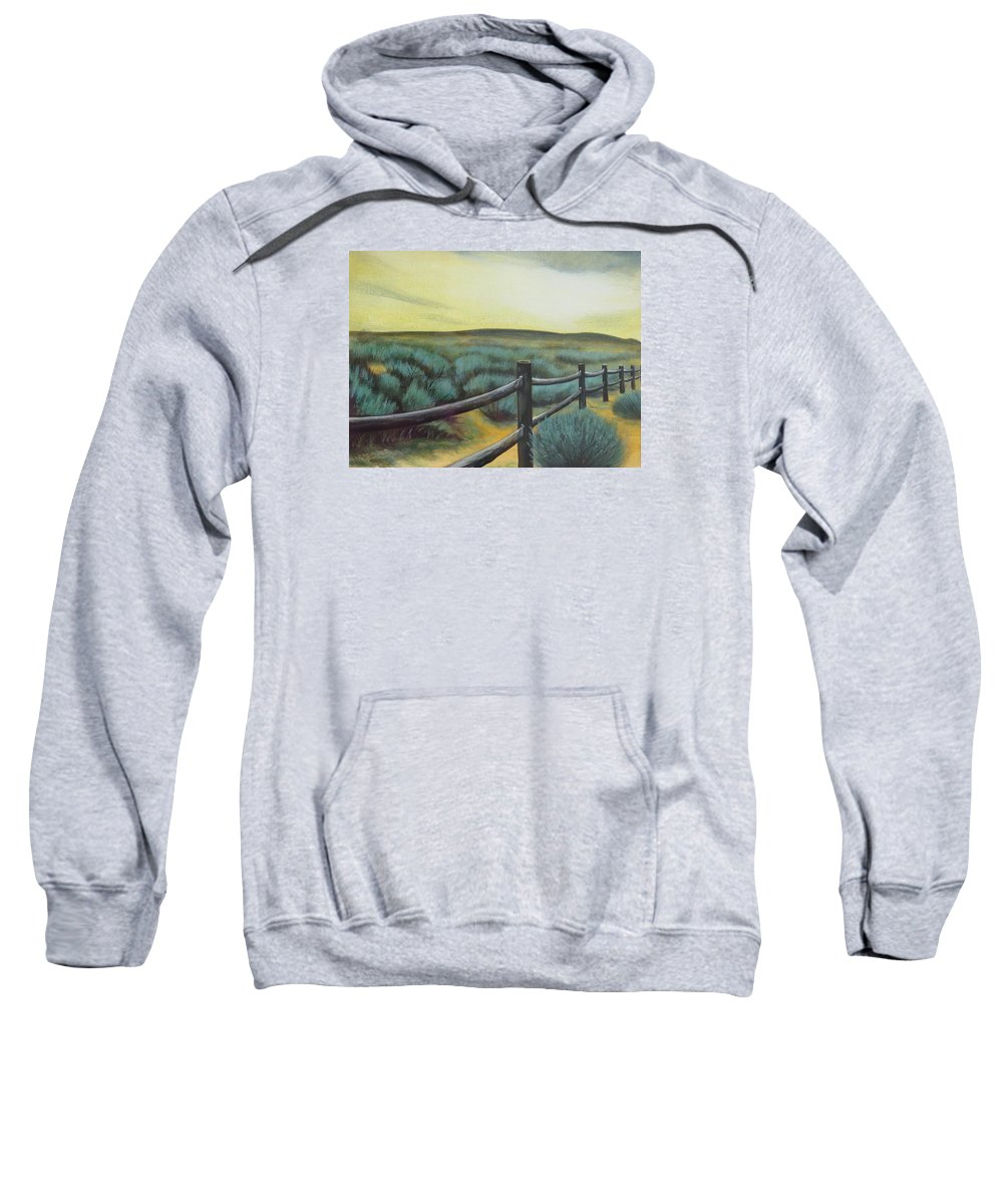 Utah Sweatshirt featuring the painting Utah Sunset by Lucy Deane