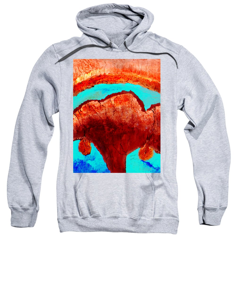 Color Sweatshirt featuring the painting Uterus by Veronica Jackson