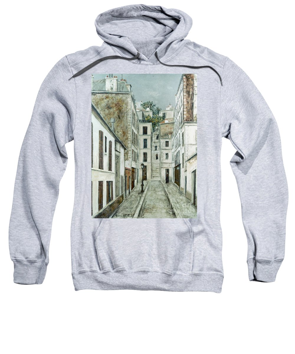 1911 Sweatshirt featuring the photograph Utrillo: Limpasse, 1911 by Granger
