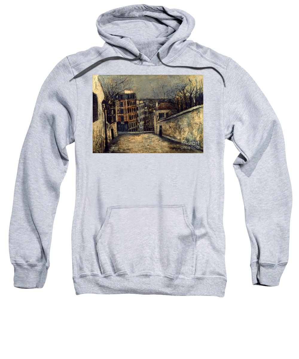 20th Century Sweatshirt featuring the photograph Utrillo: Mont-cenis by Granger