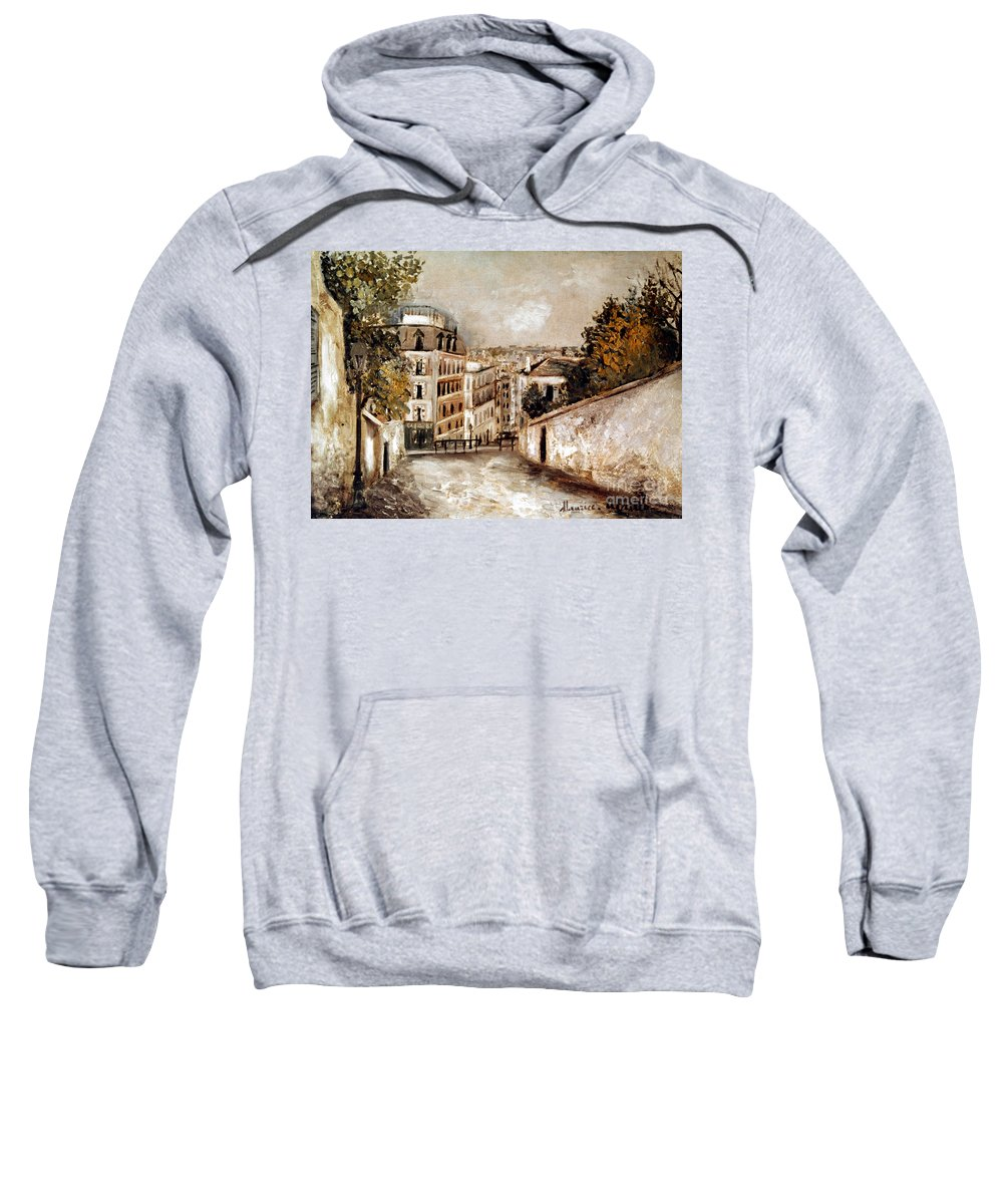 20th Century Sweatshirt featuring the photograph Utrillo: Montmartre, 20th C by Granger