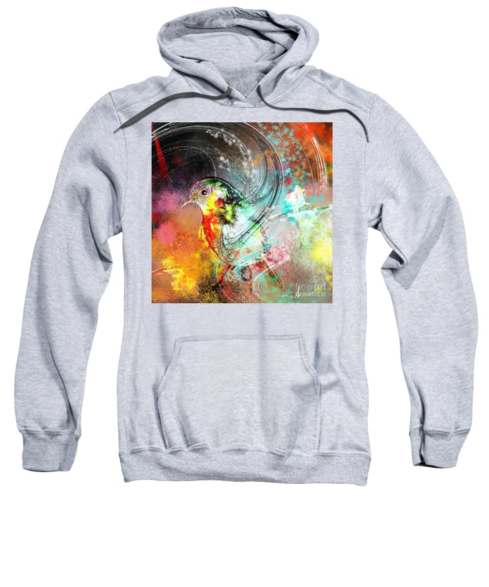 Bird Sweatshirt featuring the painting Vagabond by Miki De Goodaboom