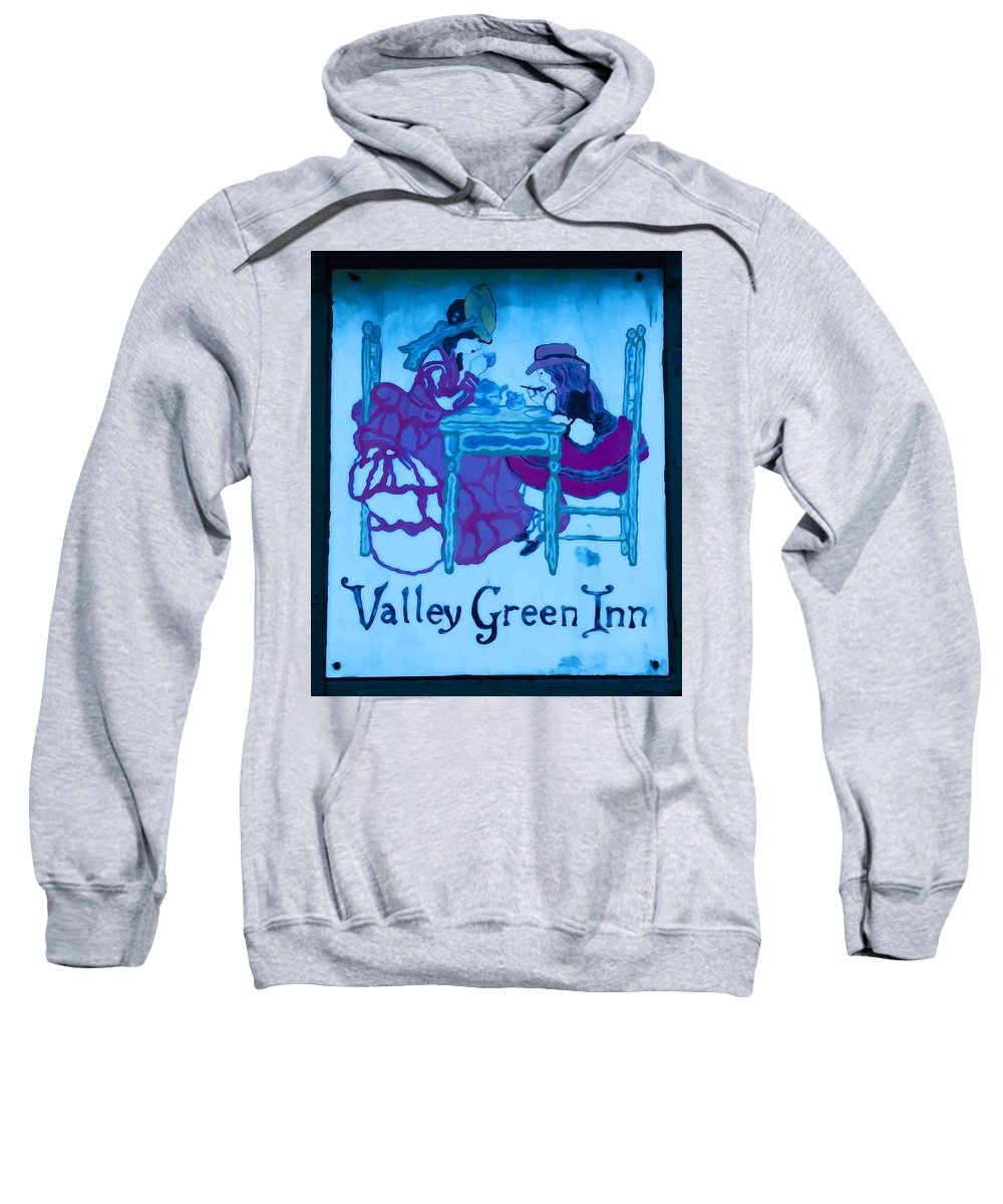 Valley Green Sweatshirt featuring the photograph Valley Green Inn by Bill Cannon