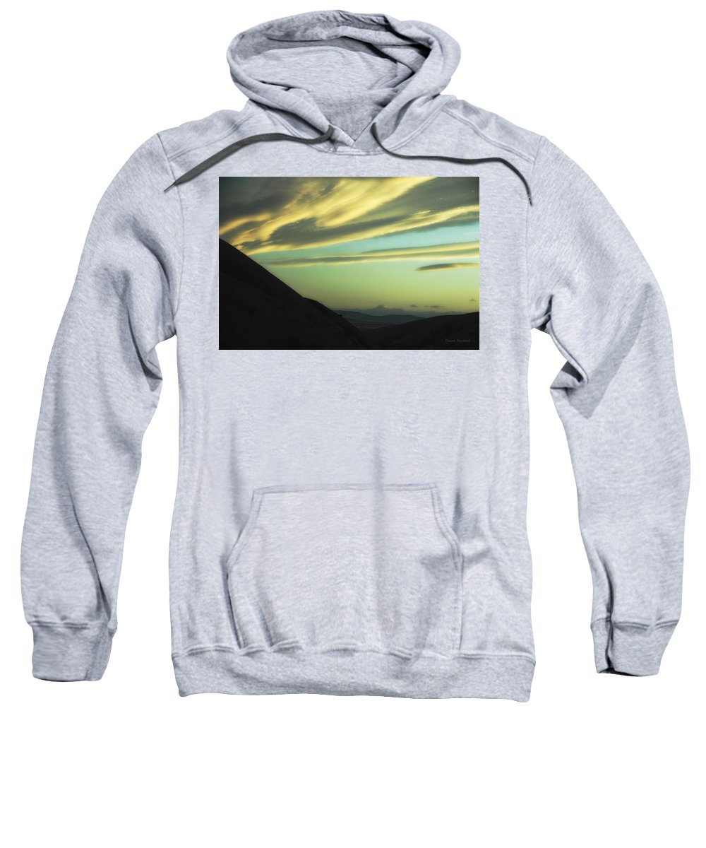Valley Sweatshirt featuring the photograph Valley Of The Shadow by Donna Blackhall
