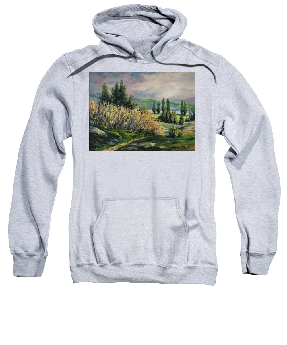 Trees Sweatshirt featuring the painting Valleyo by Rick Nederlof
