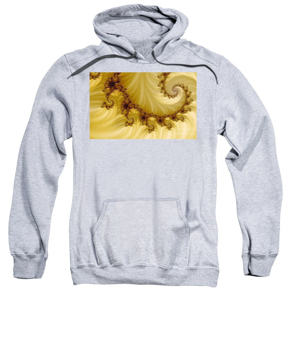 Clay Sweatshirt featuring the digital art Valleys by Clayton Bruster