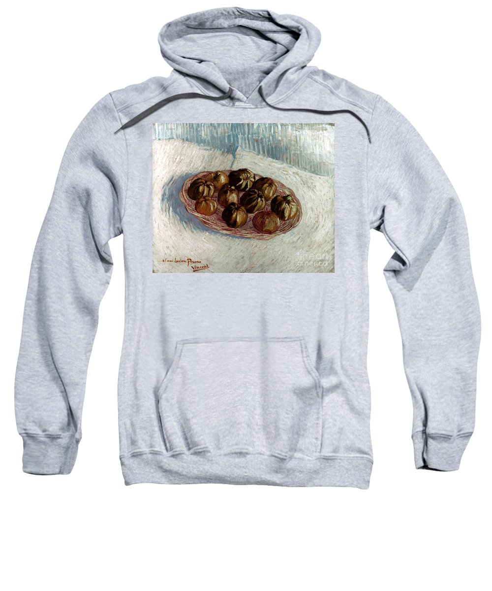 1887 Sweatshirt featuring the photograph Van Gogh: Apples, 1887 by Granger
