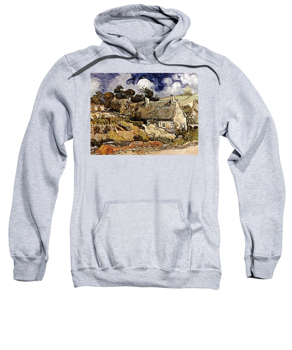 1890 Sweatshirt featuring the photograph Van Gogh: Cordeville, 1890 by Granger