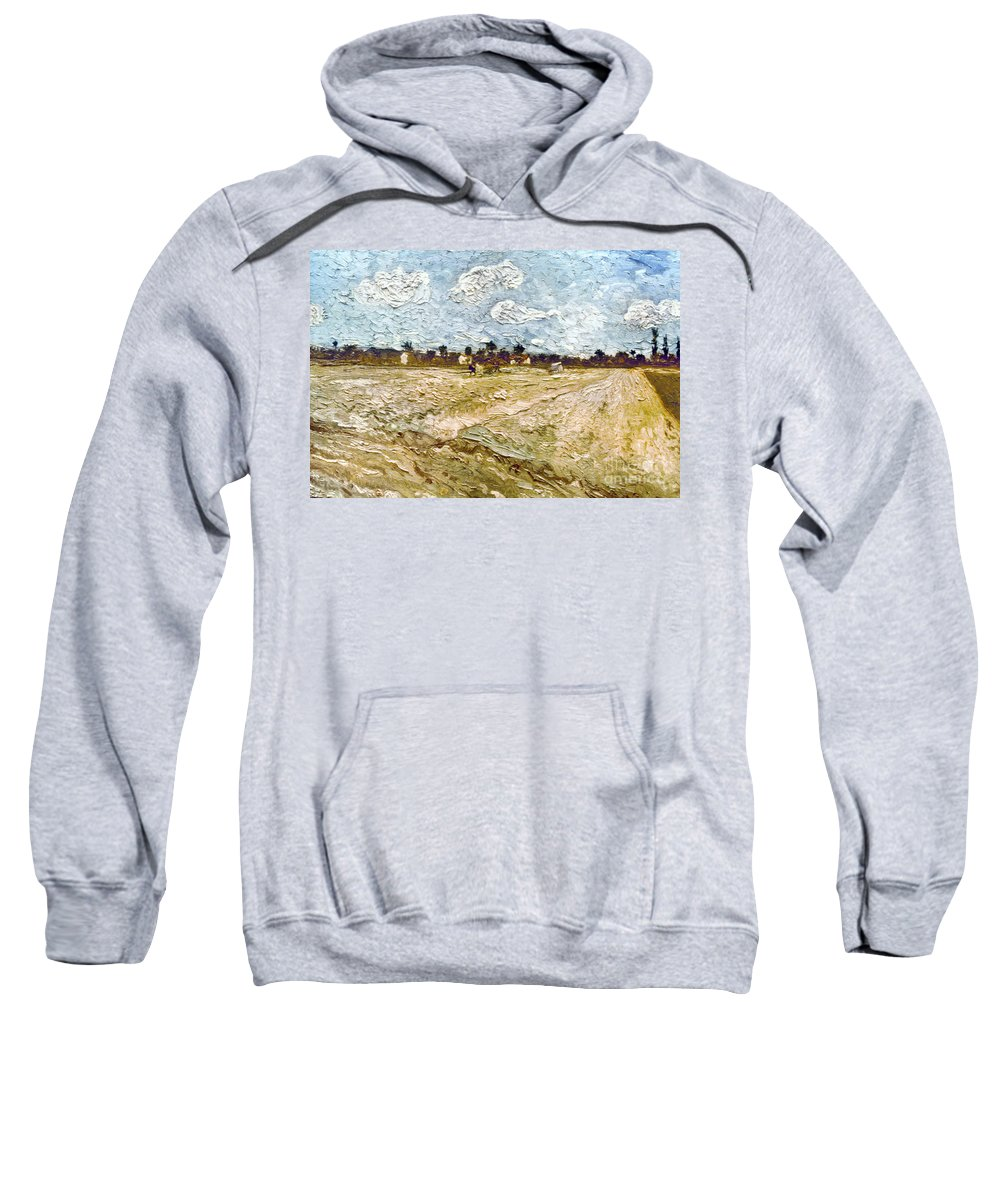 1888 Sweatshirt featuring the photograph Van Gogh: Fields, 1888 by Granger