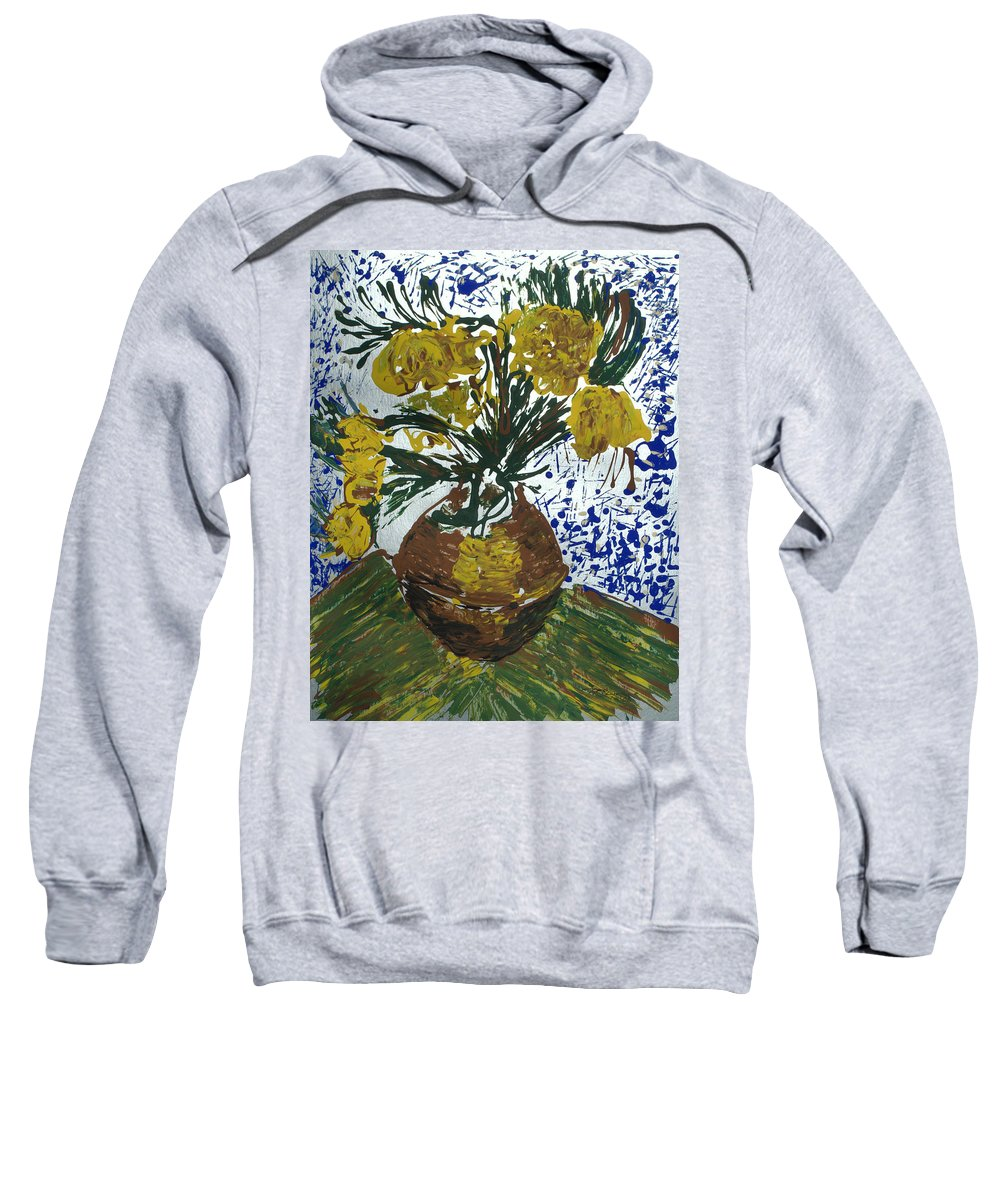 Flowers Sweatshirt featuring the painting Van Gogh by J R Seymour