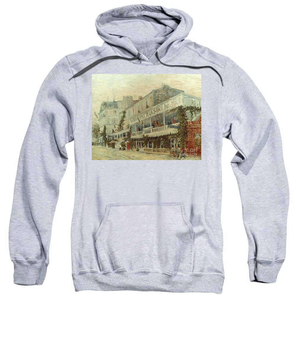 1887 Sweatshirt featuring the photograph Van Gogh: La Sirene, 1887 by Granger