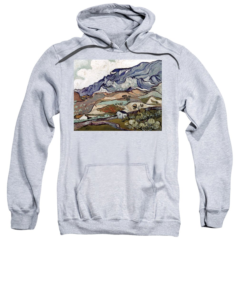 1890 Sweatshirt featuring the photograph Van Gogh: Landscape, 1890 by Granger
