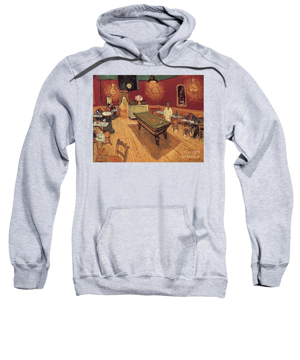 1888 Sweatshirt featuring the painting Van Gogh Night Cafe 1888 by Granger