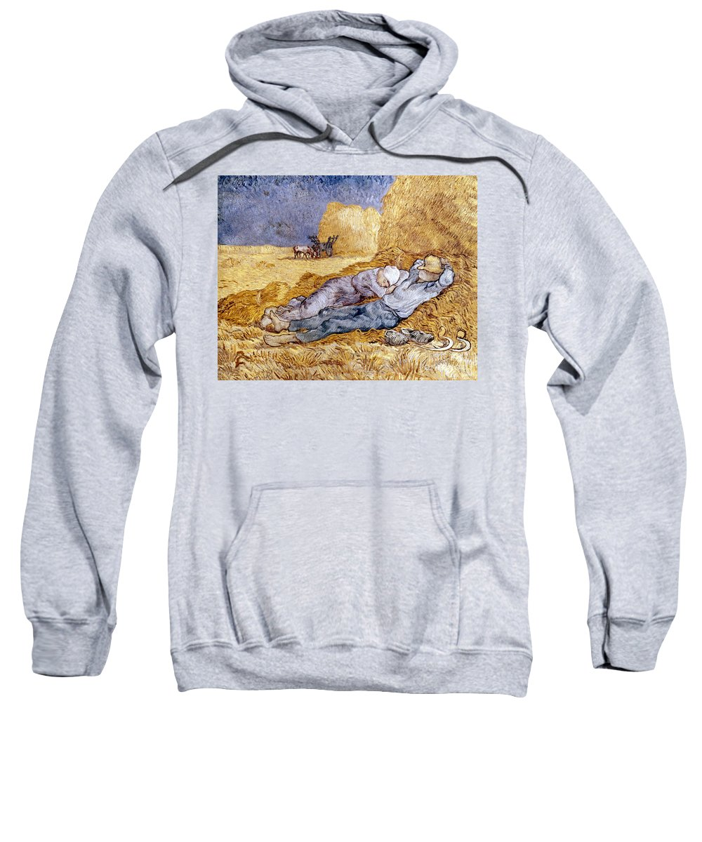 1890 Sweatshirt featuring the photograph Van Gogh: Noon Nap, 1889-90 by Granger