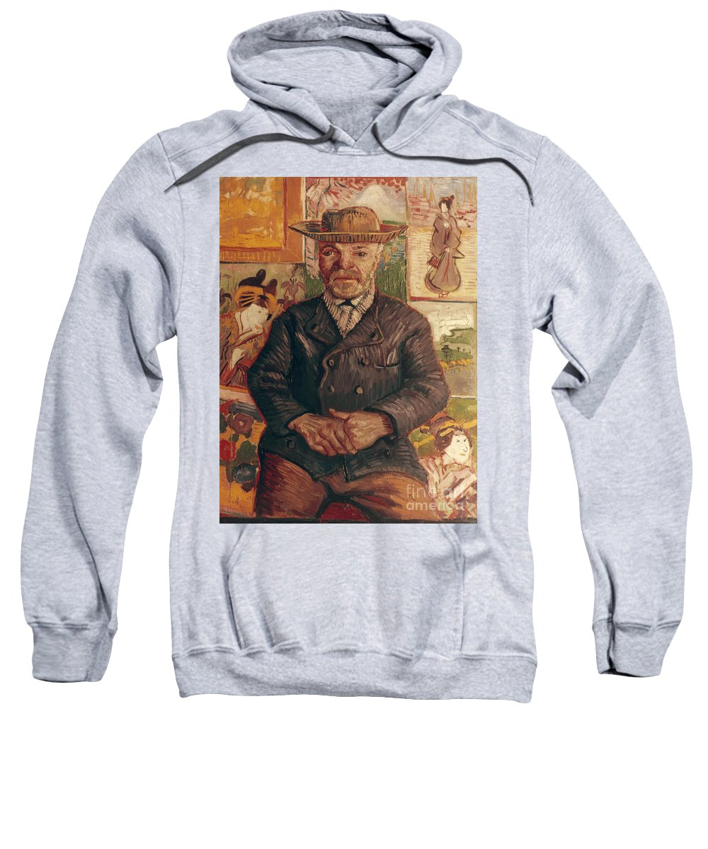 1887 Sweatshirt featuring the photograph Van Gogh: Pere Tanguy, 1887 by Granger