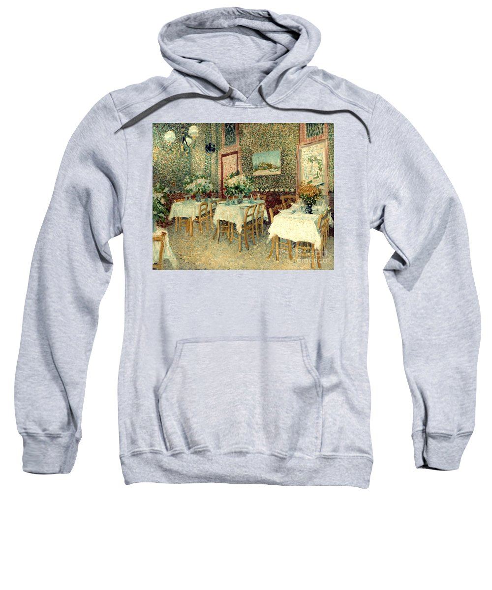 1887 Sweatshirt featuring the photograph Van Gogh: Restaurant, 1887 by Granger