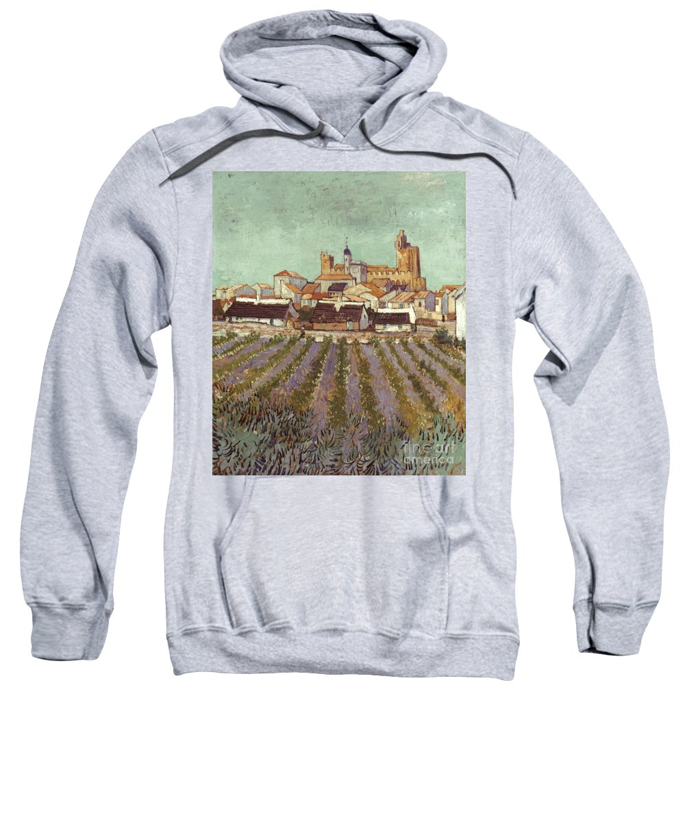 1888 Sweatshirt featuring the photograph Van Gogh: Saintes-maries by Granger